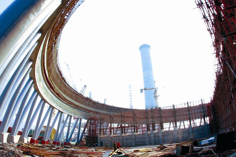 工程冷却塔施工现场